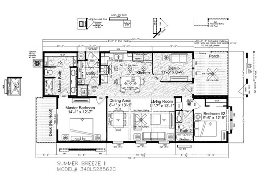 Breeze House Floor Plans: Maridian Paradise Manufactured Homes